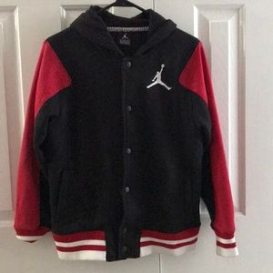 Jordan button up hoodie!!! Size large